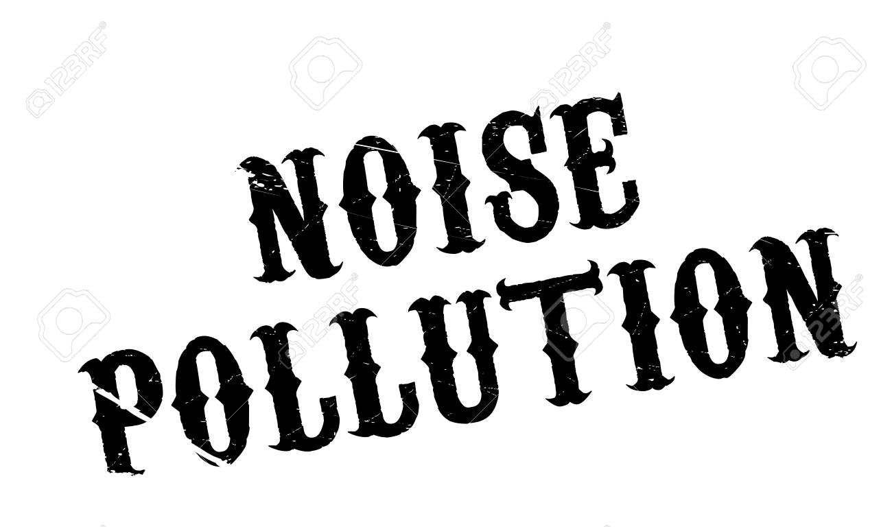 Noise Pollution Rubber Stamp Grunge Design With Dust Scratches