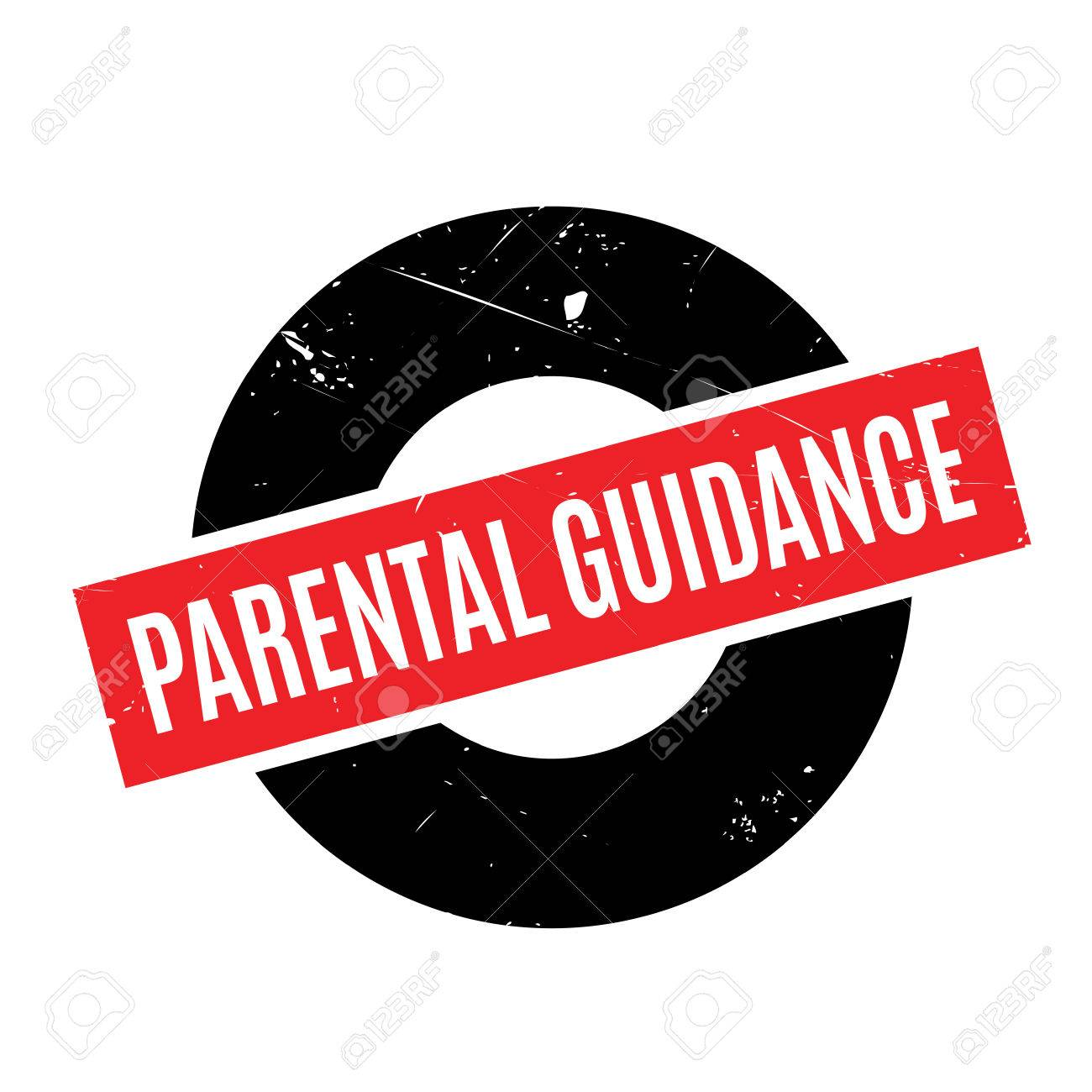 Parental Guidance Rubber Stamp Grunge Design With Dust Scratches