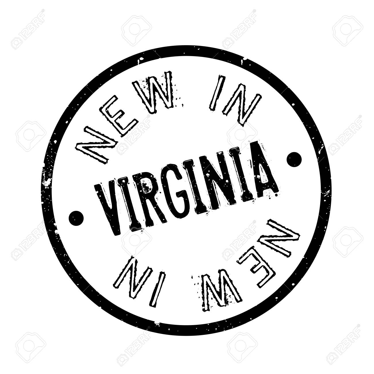 New In Virginia Rubber Stamp Grunge Design With Dust Scratches Effects Can Be Easily