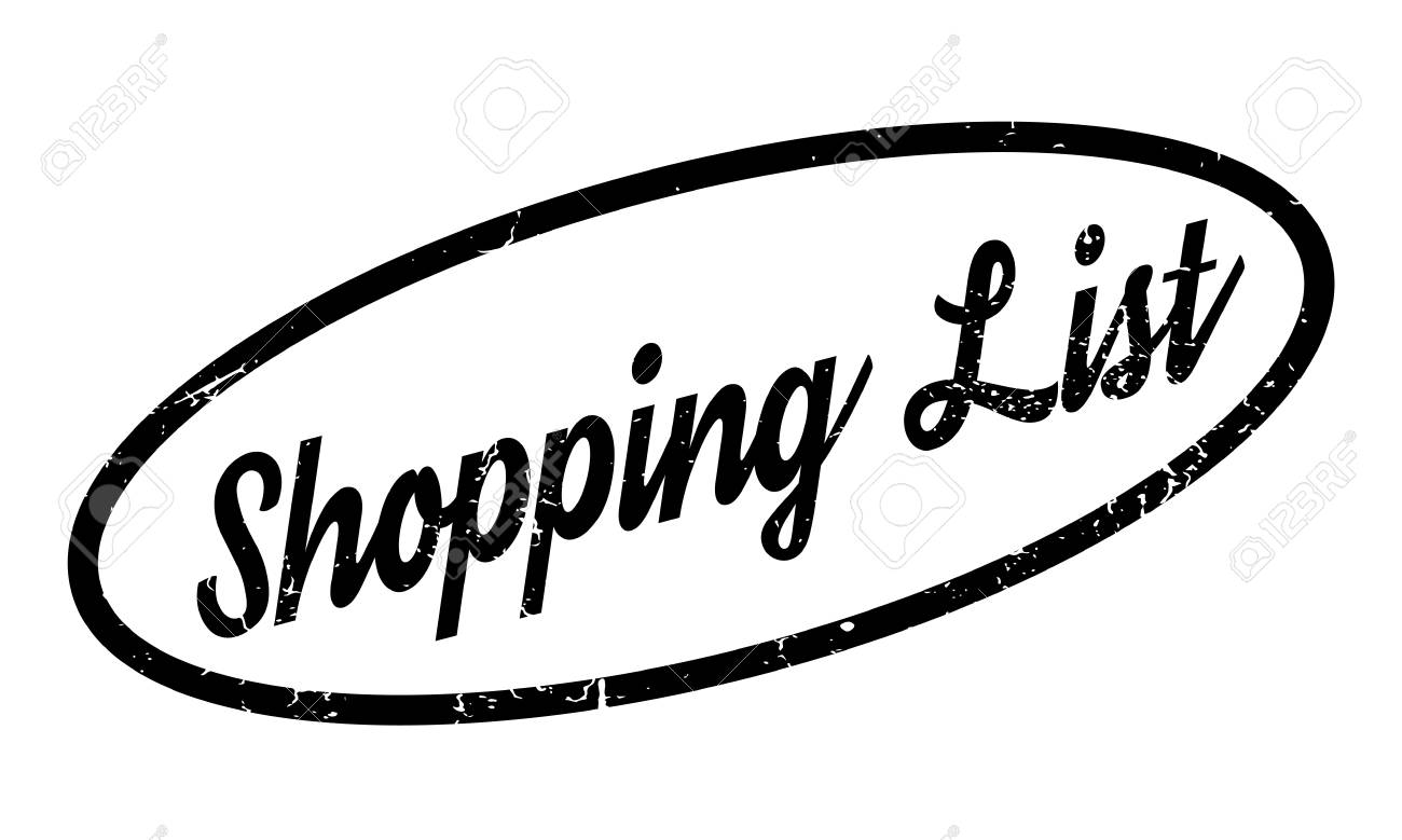 shopping list rubber stamp stock vector 75869469