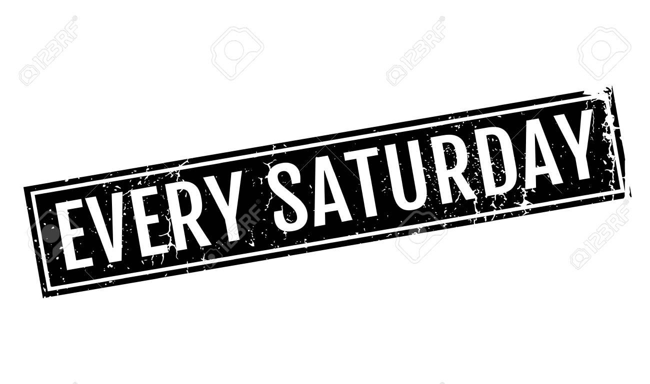 毎土曜日のスタンプのイラスト素材・ベクタ - Image 75869786.