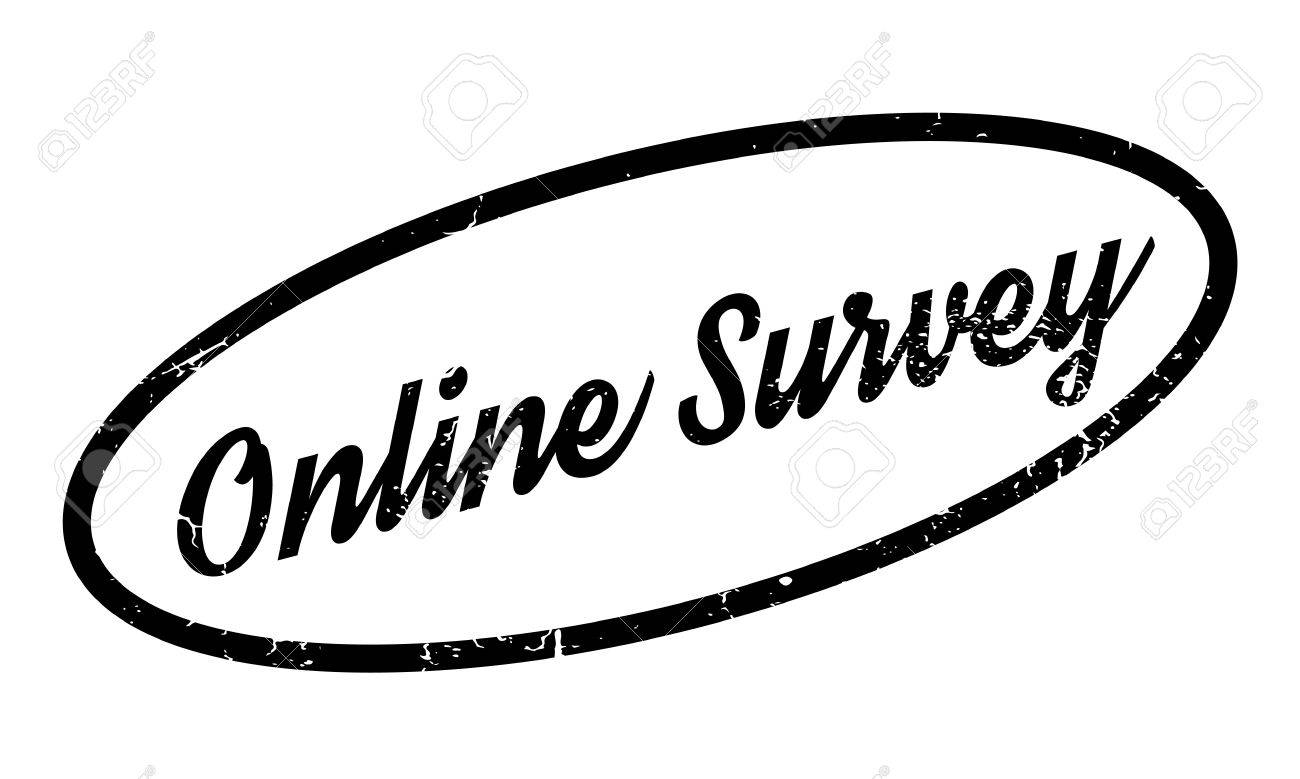 Online Survey Rubber Stamp Grunge Design With Dust Scratches Effects Can Be Easily Removed