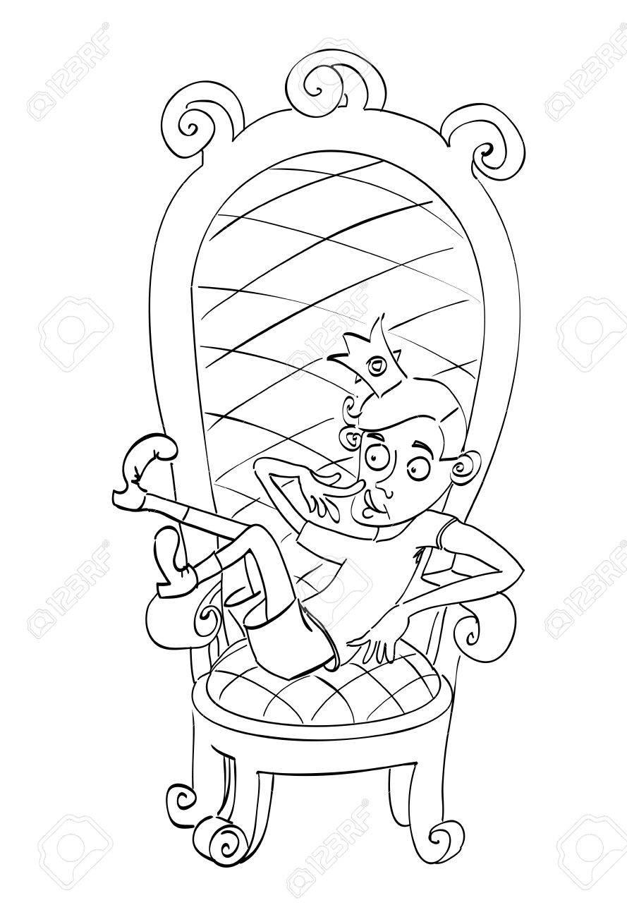Banque dimages image de dessin animé du prince idiot