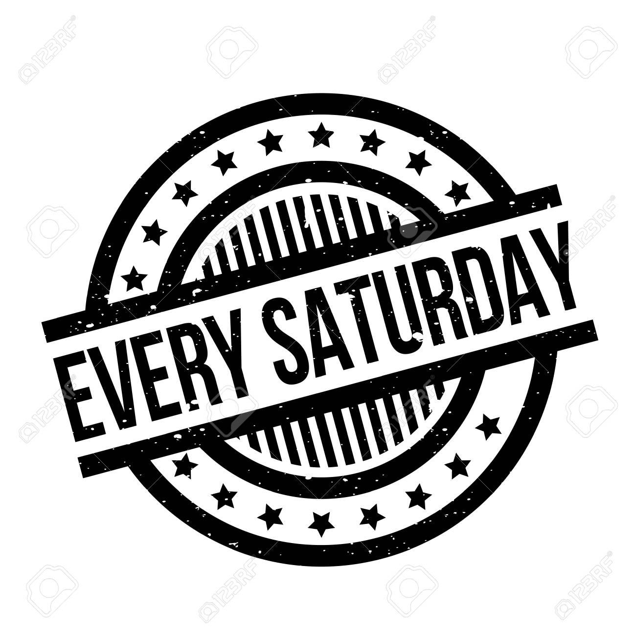 毎土曜日のスタンプのイラスト素材・ベクタ - Image 77620869.