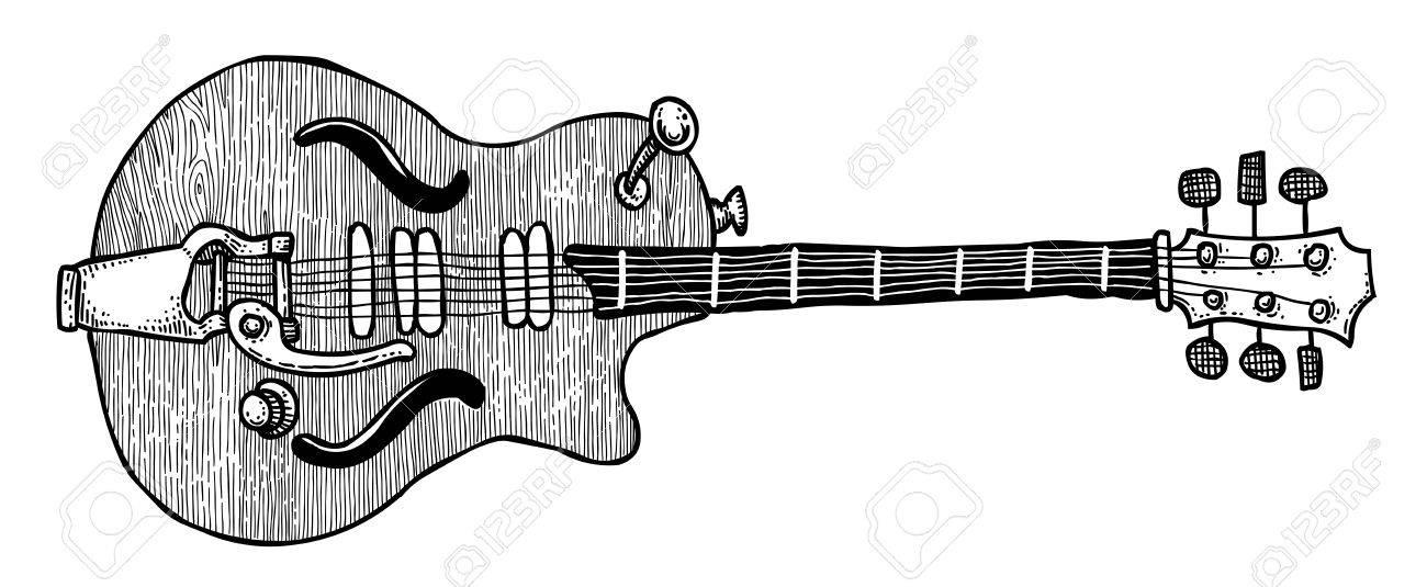 Imagen De Dibujos Animados De La Guitarra Eléctrica