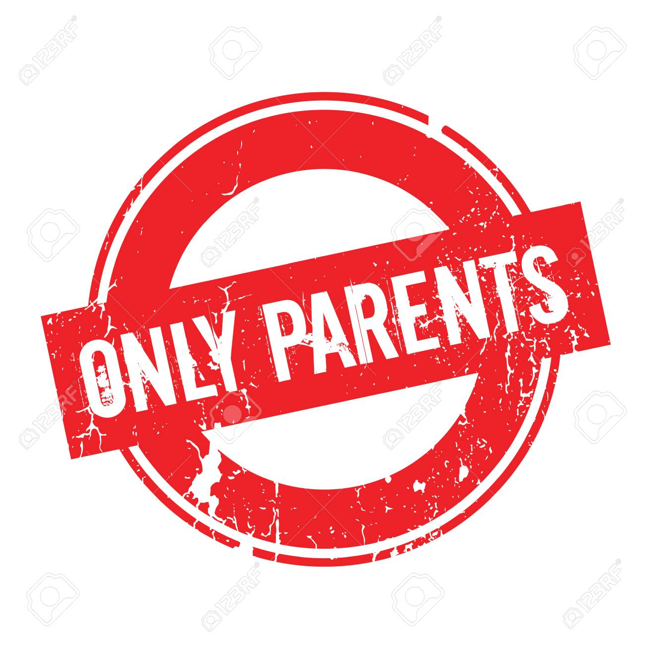 Only Parents Rubber Stamp Stock Vector