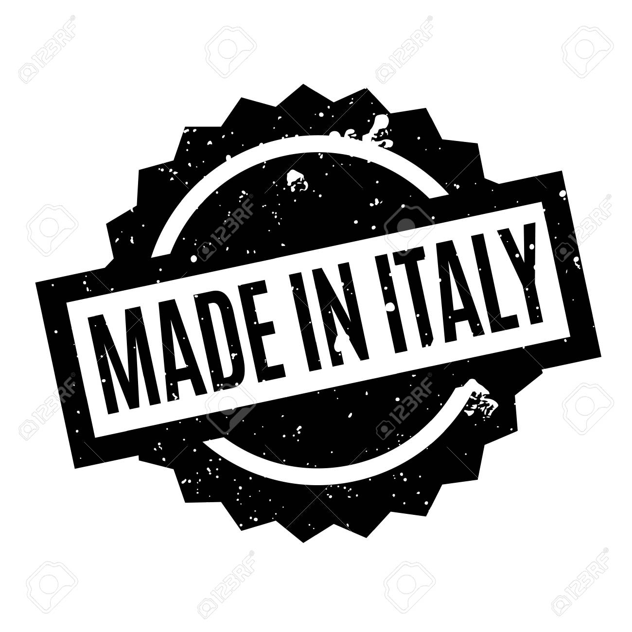 2d3ab6a6c0 Made In Italy rubber stamp Stock Vector - 78254363