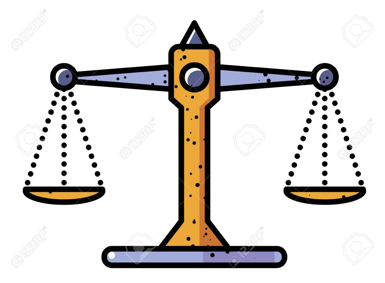 Cartoon Image Of Balance Icon. Scales Symbol Royalty Free Cliparts ...