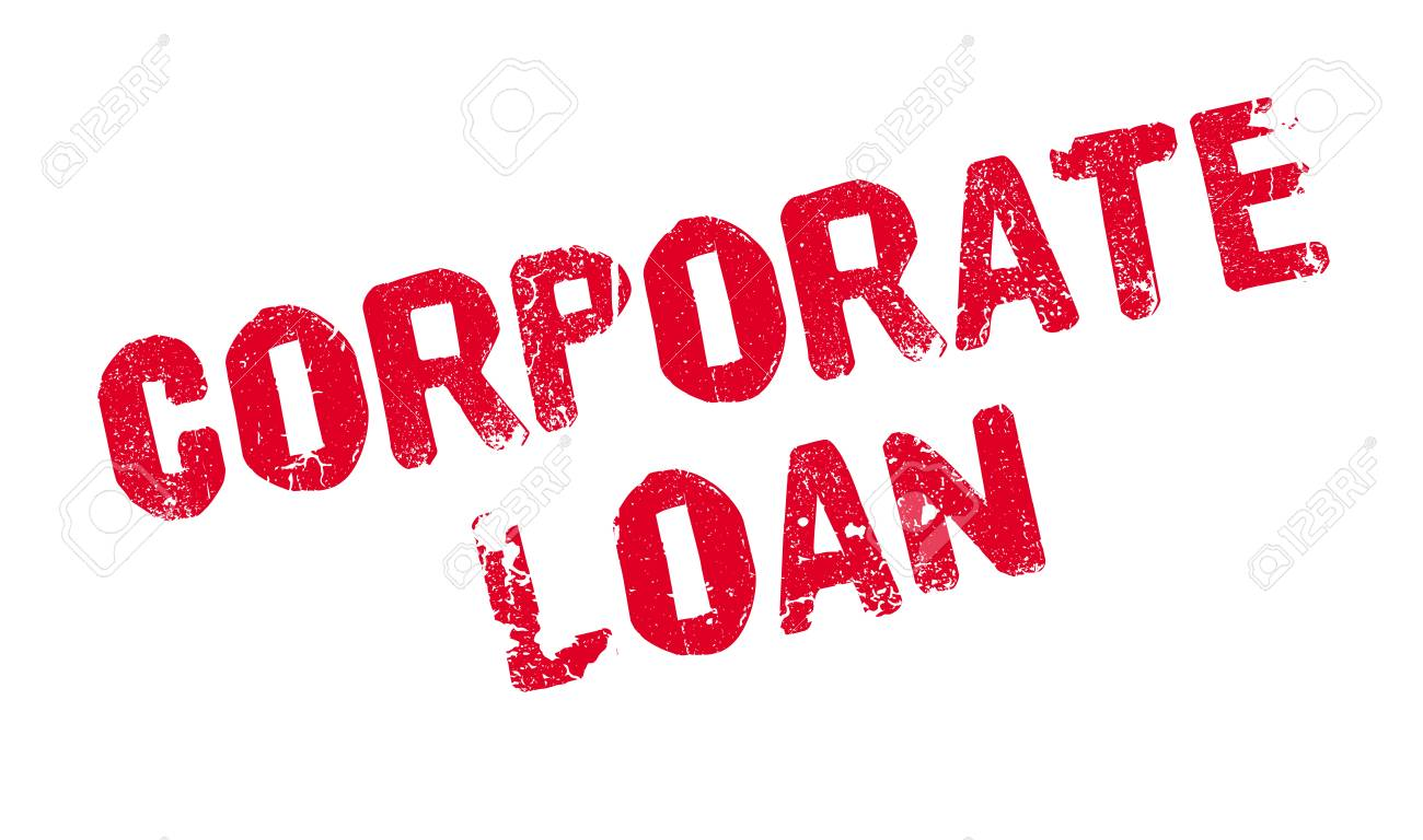 Corporate Loan Rubber Stamp Stock Vector