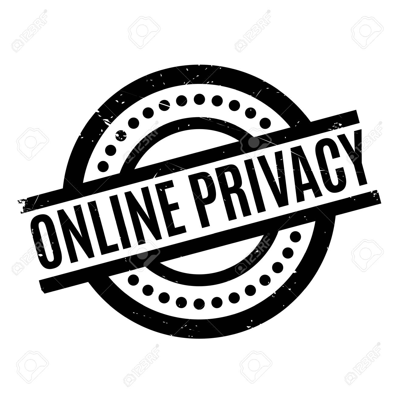 online privacy rubber stamp grunge design with dust scratches