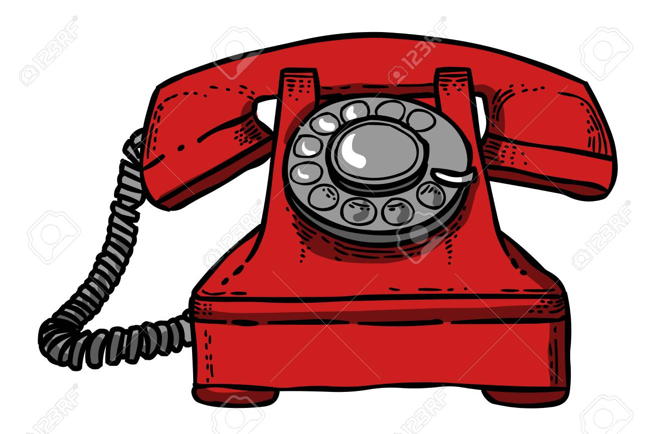 Image De Dessin Animé De L'icône Du Téléphone. Symbole ...