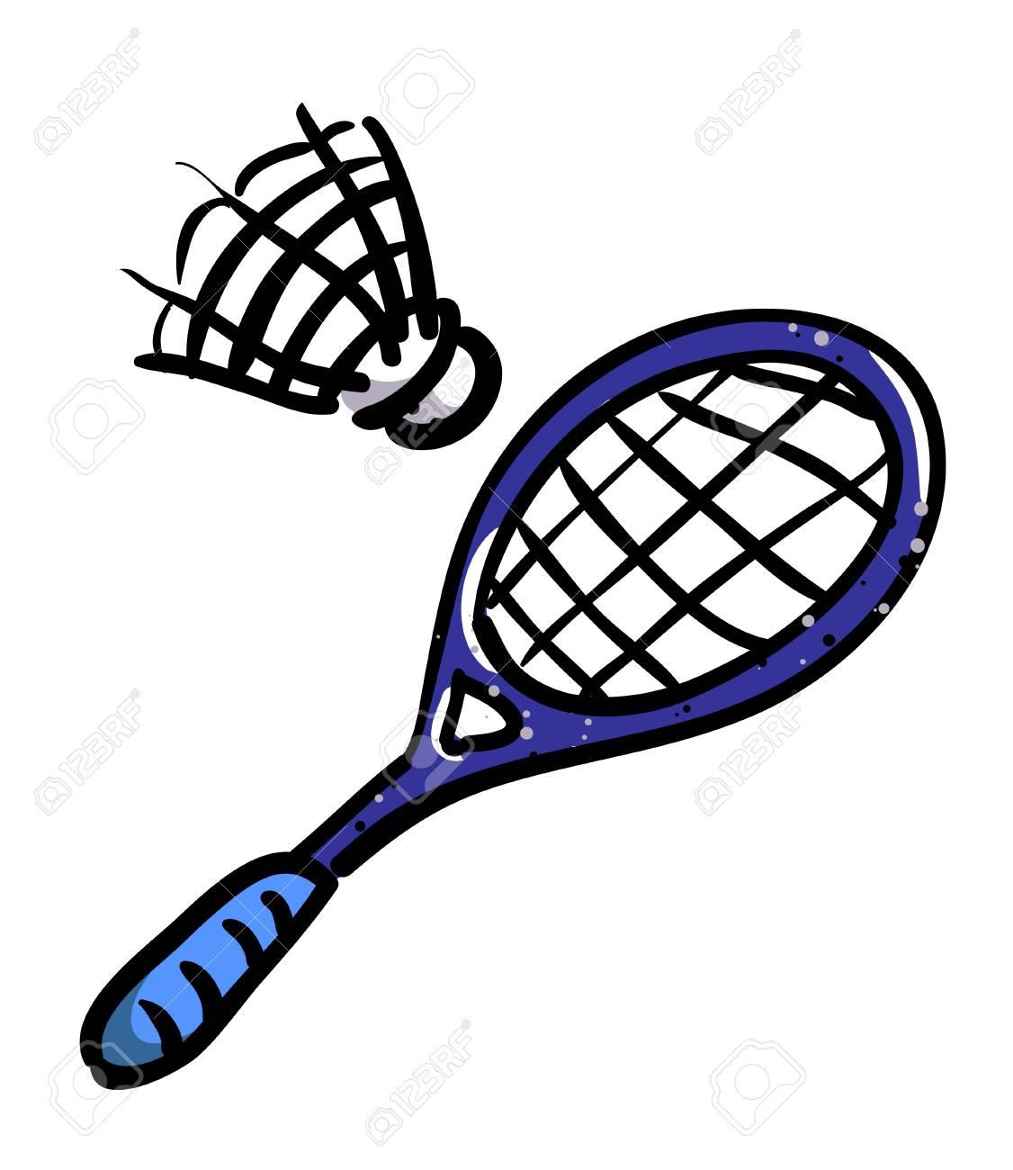Cartoon Image Of Badminton Icon Sport Symbol Stock Photo Picture