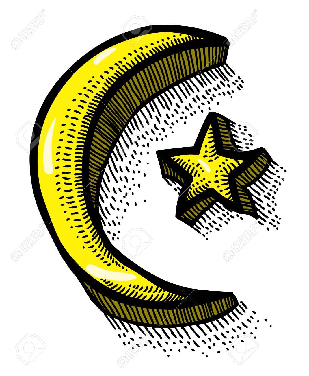 Cartoon Image Of Islam Symbol Royalty Free Cliparts Vectors And