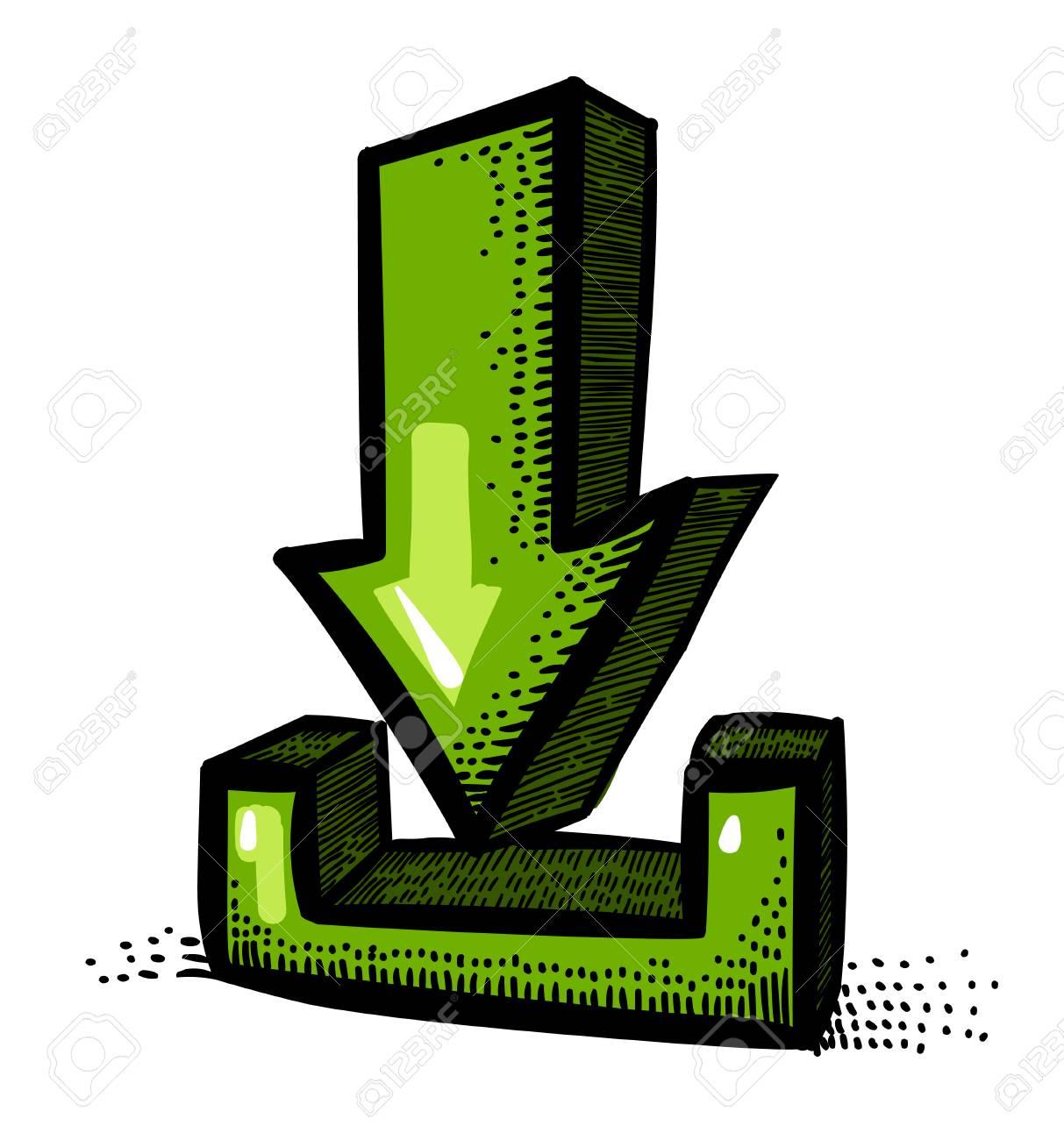 cartoon image of torrent icon arrow symbol royalty free cliparts rh 123rf com Wing Set Vector Torrents vector torrent download