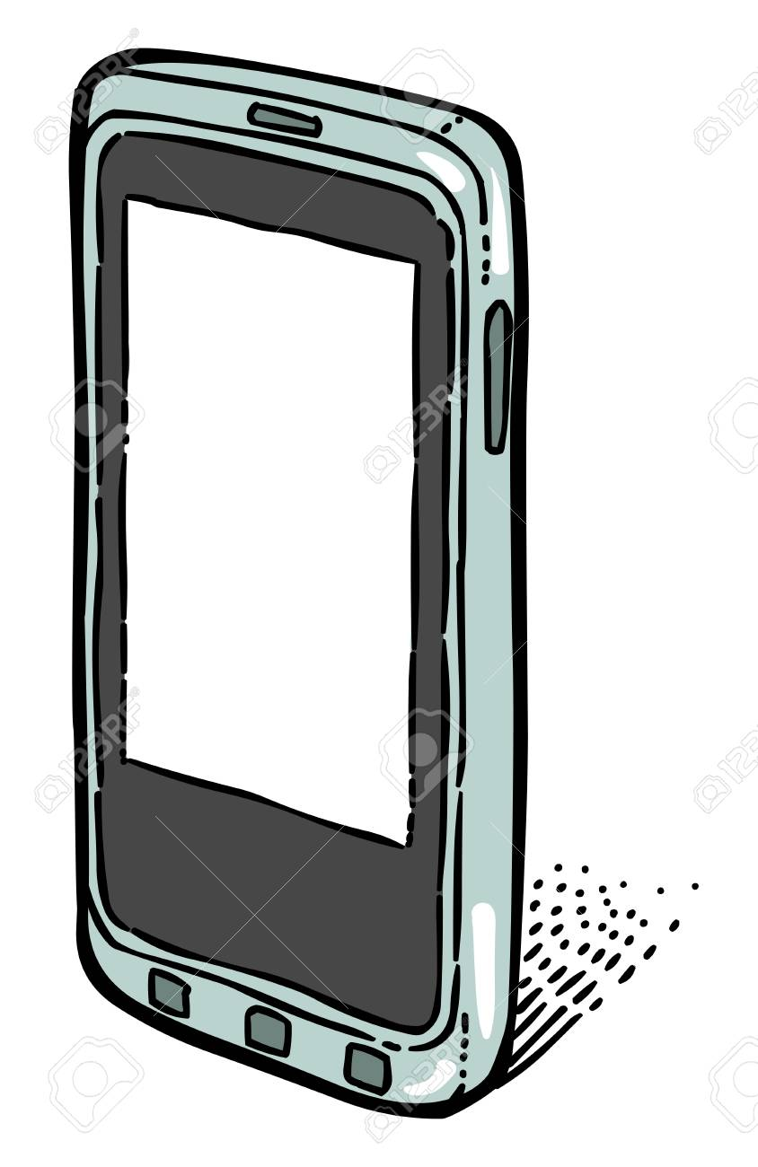 Cartoon Image Of Smartphone Icon Cellphone Pictogram Telephone Royalty Free Cliparts Vectors And Stock Illustration Image 81521582