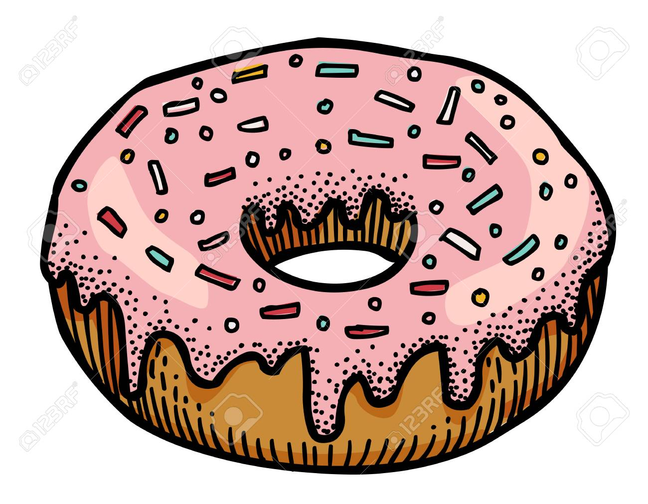 Cartoon Image Of Doughnut Royalty Free Cliparts Vectors And