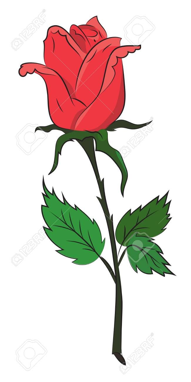 Cartoon Image Of Blue Flower Tattoo Cartoon Royalty Free Cliparts
