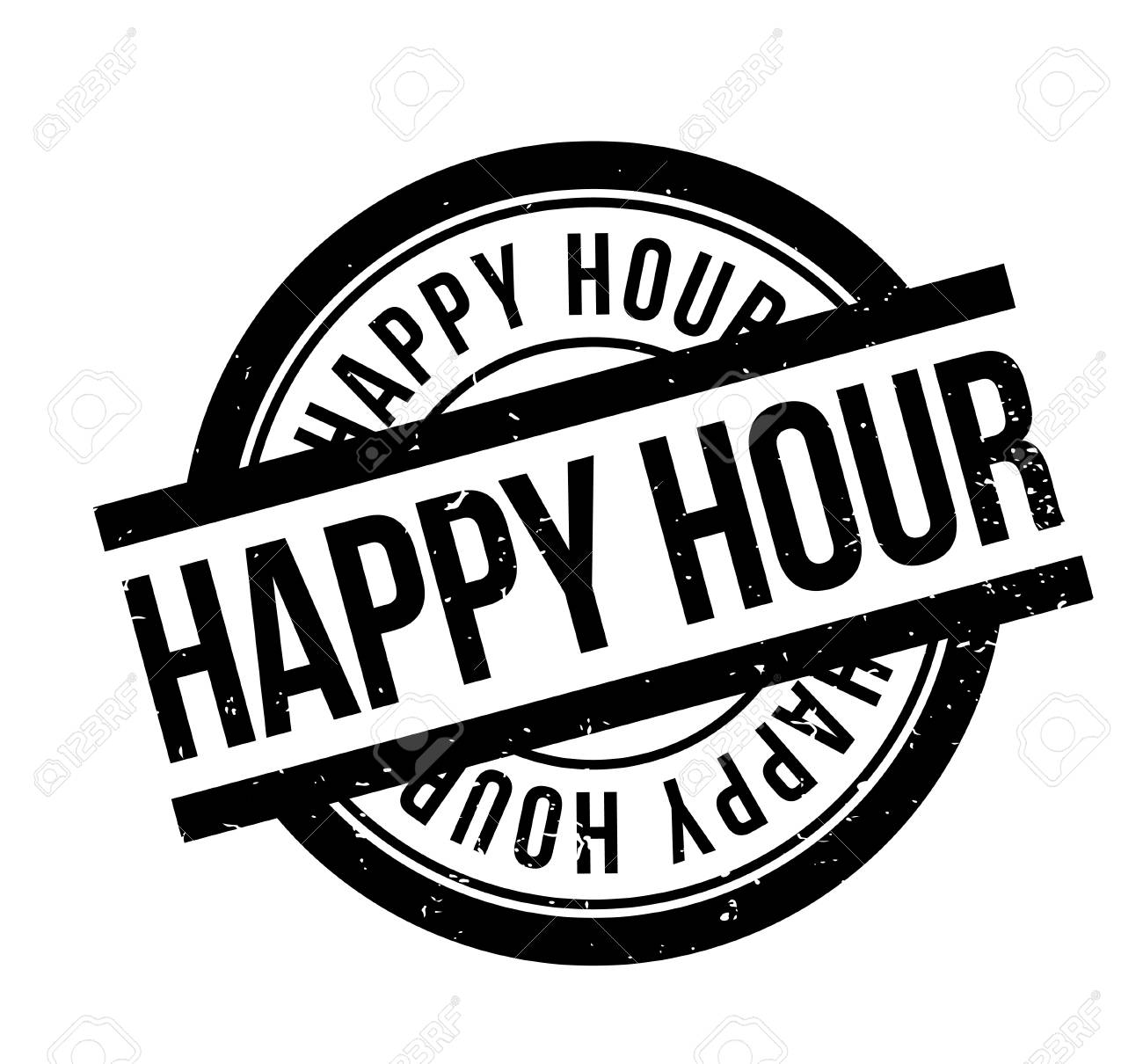 Happy Hour rubber stamp - 82842292
