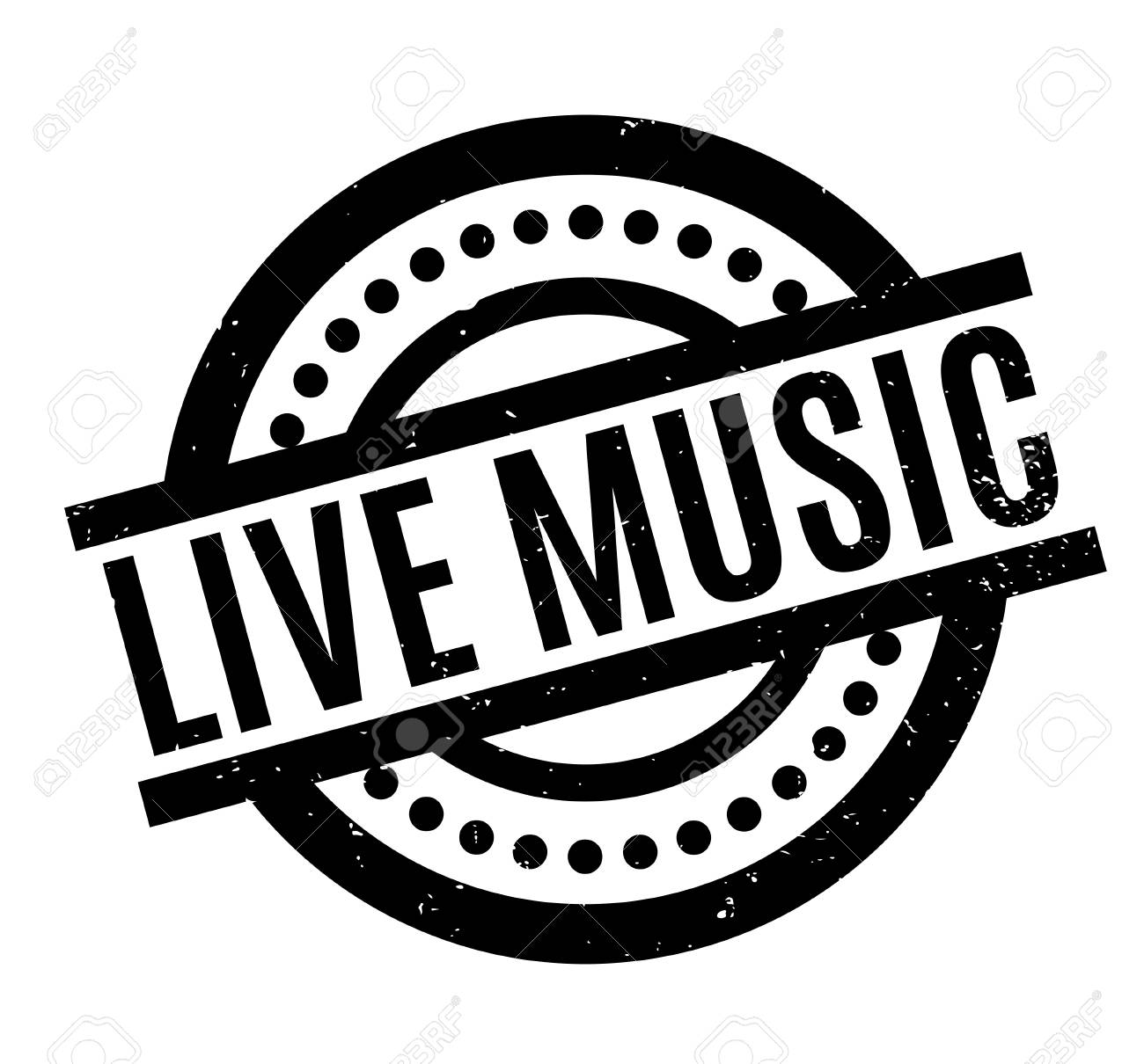 Live Music rubber stamp - 83060203