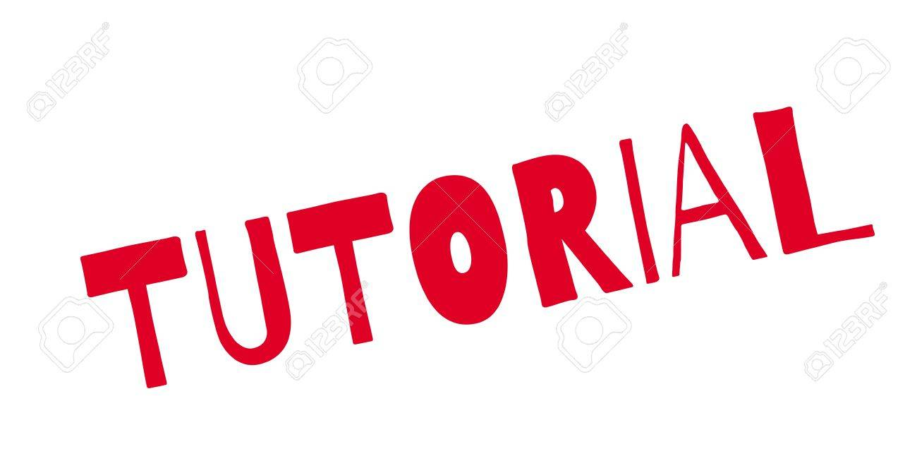 Tutoriall rubber stamp - 84083196