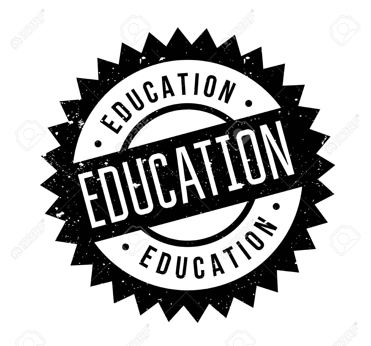 Education rubber stamp - 86685938