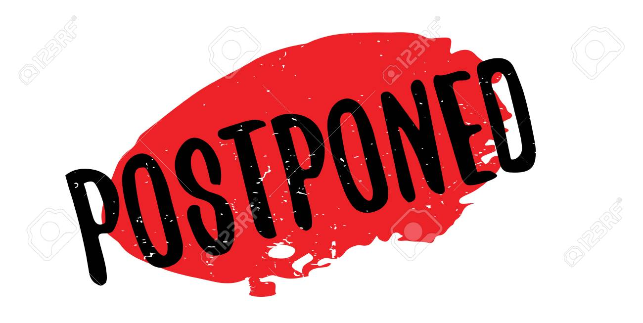 Postponed rubber stamp - 87046914