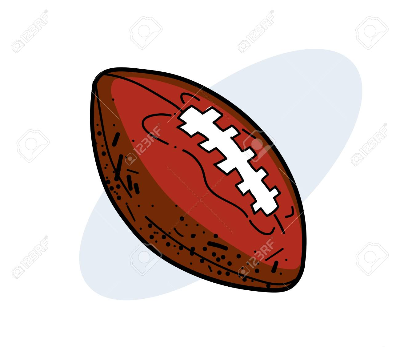 Rugby Ball Hand Drawn Image Royalty Free Cliparts Vectors And Stock Illustration Image 86999094