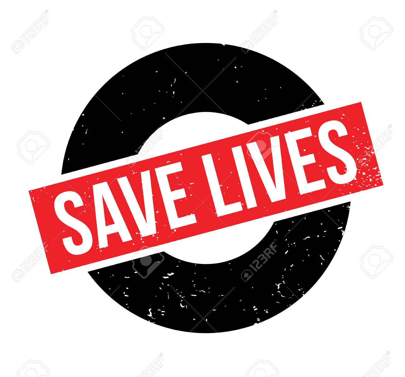 Save Lives rubber stamp. Grunge design with dust scratches. Effects can be easily removed for a clean, crisp look. Color is easily changed. - 88803706