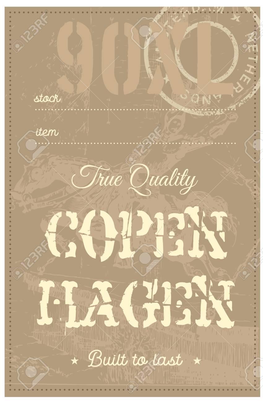 Tag di abbigliamento vero di Copenhagen, per attività di vendita al dettaglio, denim o altri prodotti.