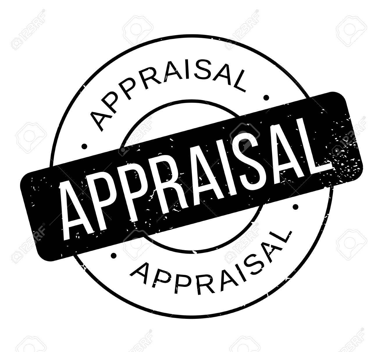 Appraisal rubber stamp  Grunge design with dust scratches  Effects