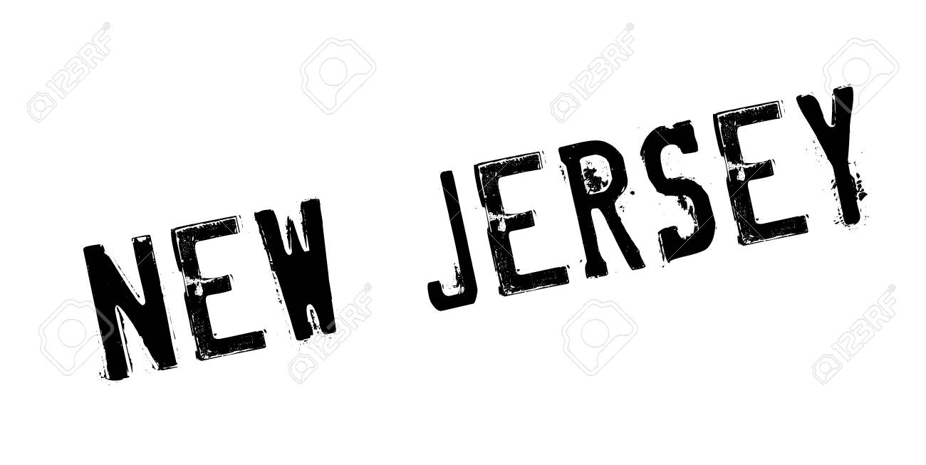 New Jersey Rubber Stamp Grunge Design With Dust Scratches Effects Can Be Easily Removed