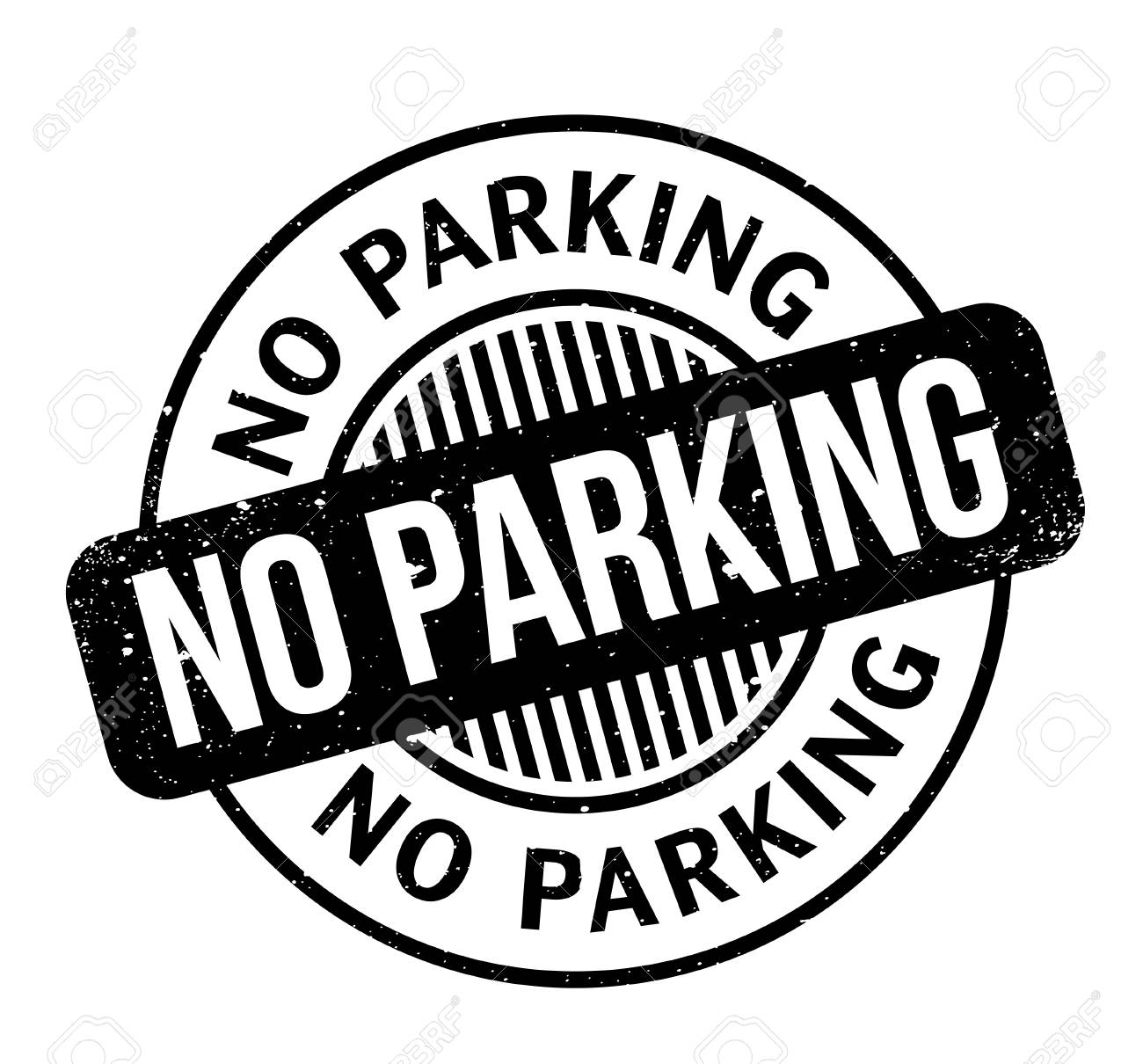 No Parking rubber stamp. Grunge design with dust scratches. Effects can be easily removed for a clean, crisp look. Color is easily changed. - 95648896