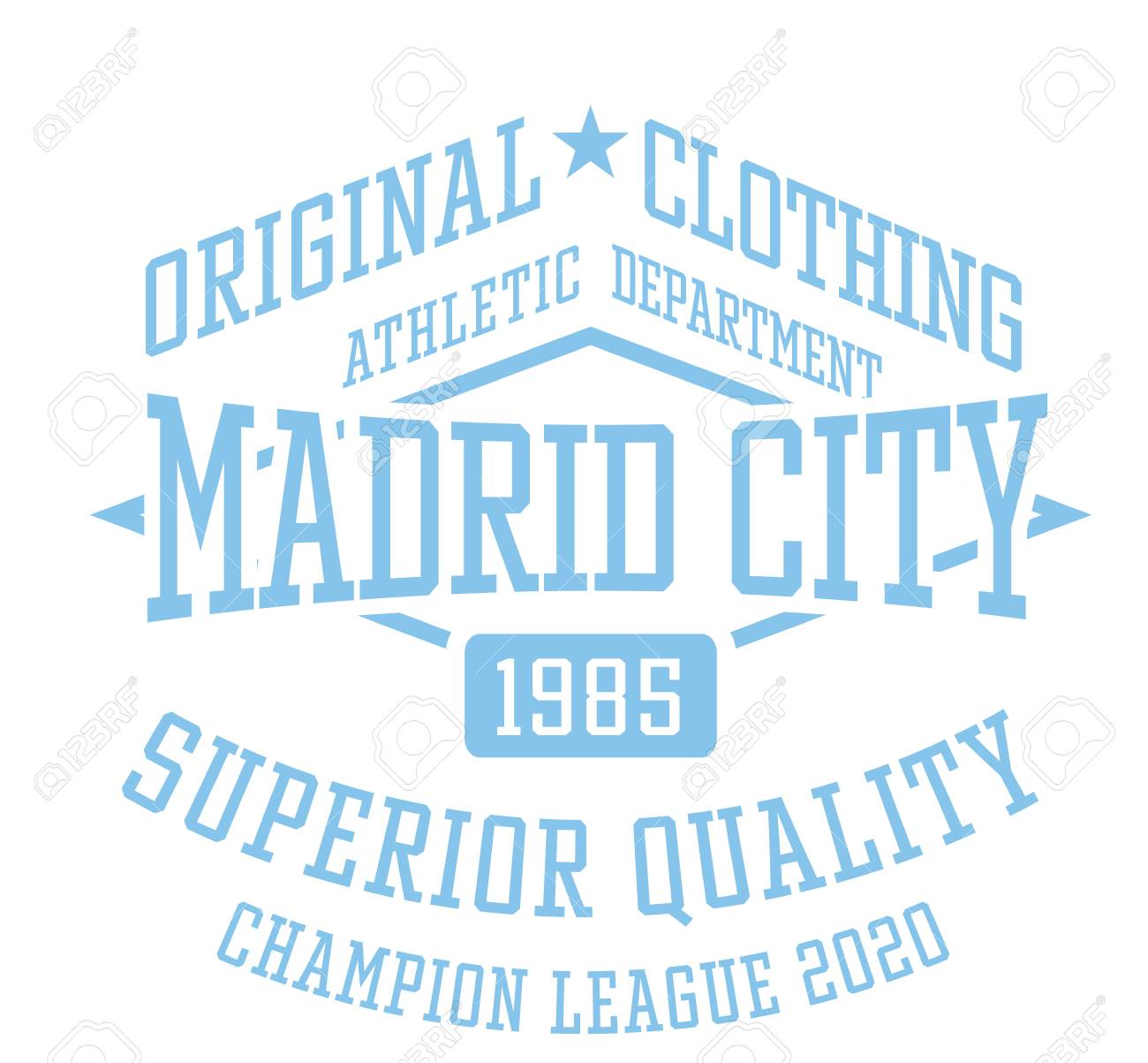 03506864c Madrid city sport t-shirt design, college sport team style typography for  poster,