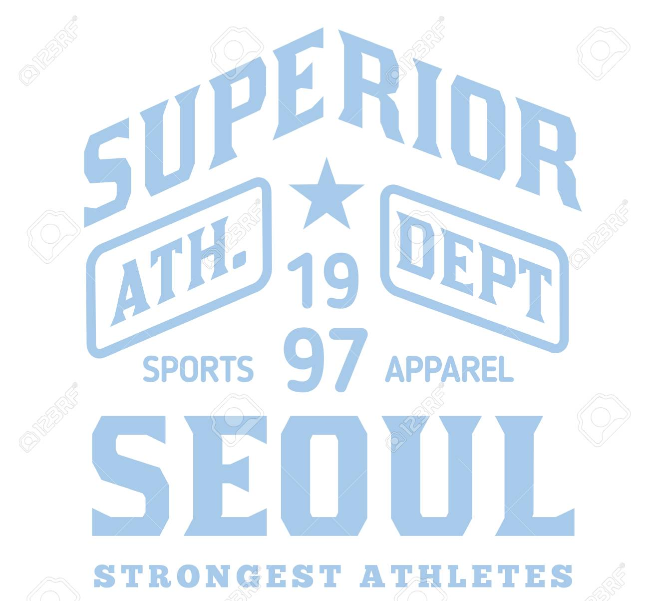 288a9548f Seoul sport t-shirt design, college sport team style typography for poster,  t