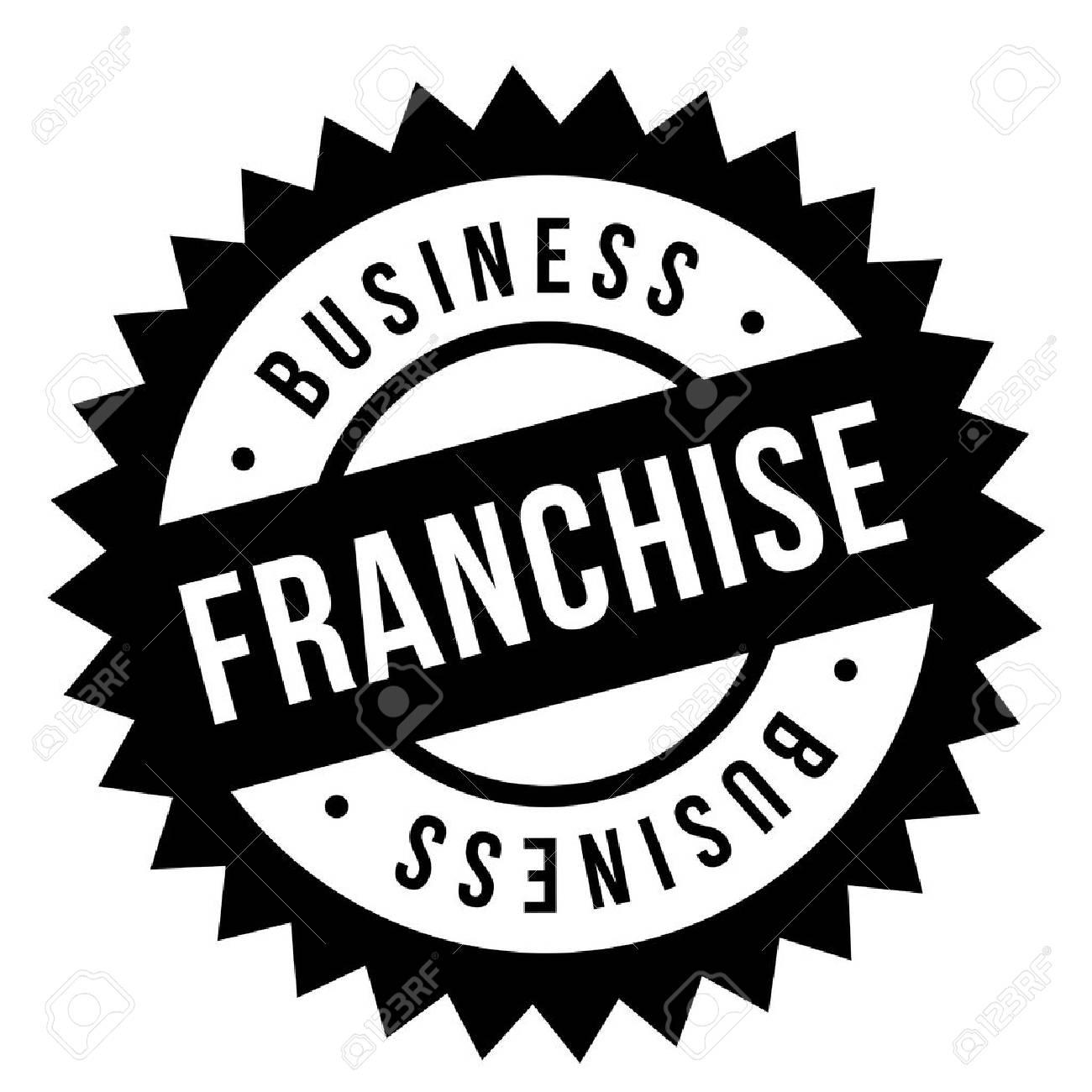 Franchise stamp. Typographic sign, stamp or logo - 95726686