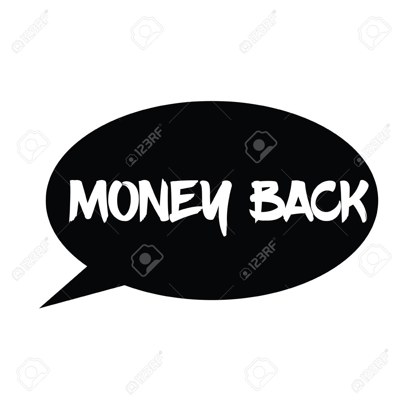 Money Back Rubber Stamp Black Sign Label Sticker Lizenzfrei