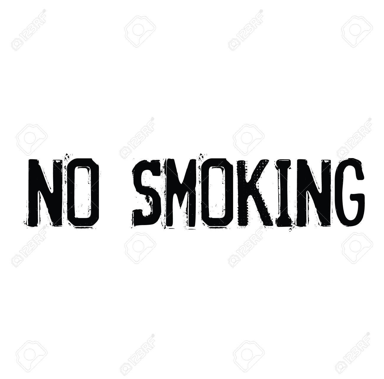 no smoking black and white