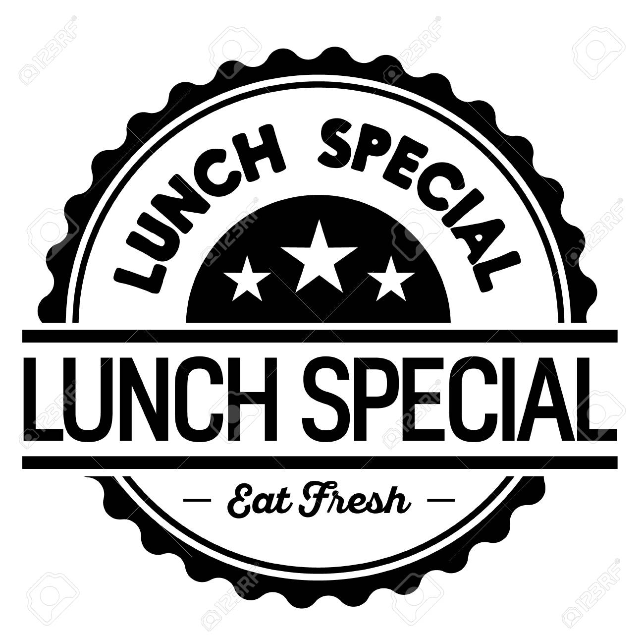 lunch special label on white background - 116204459