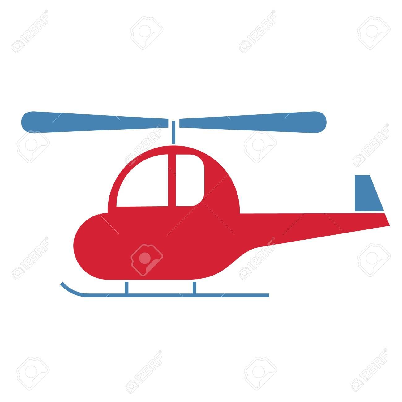 helicopter simlple art geometric illustration  Icon, graphic