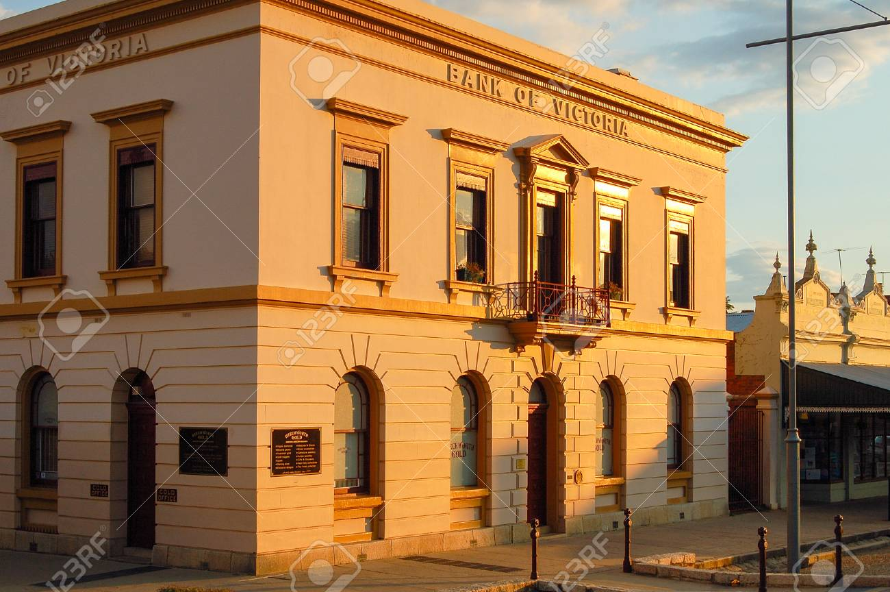 The former Bank of Victoria building of the gold mining town