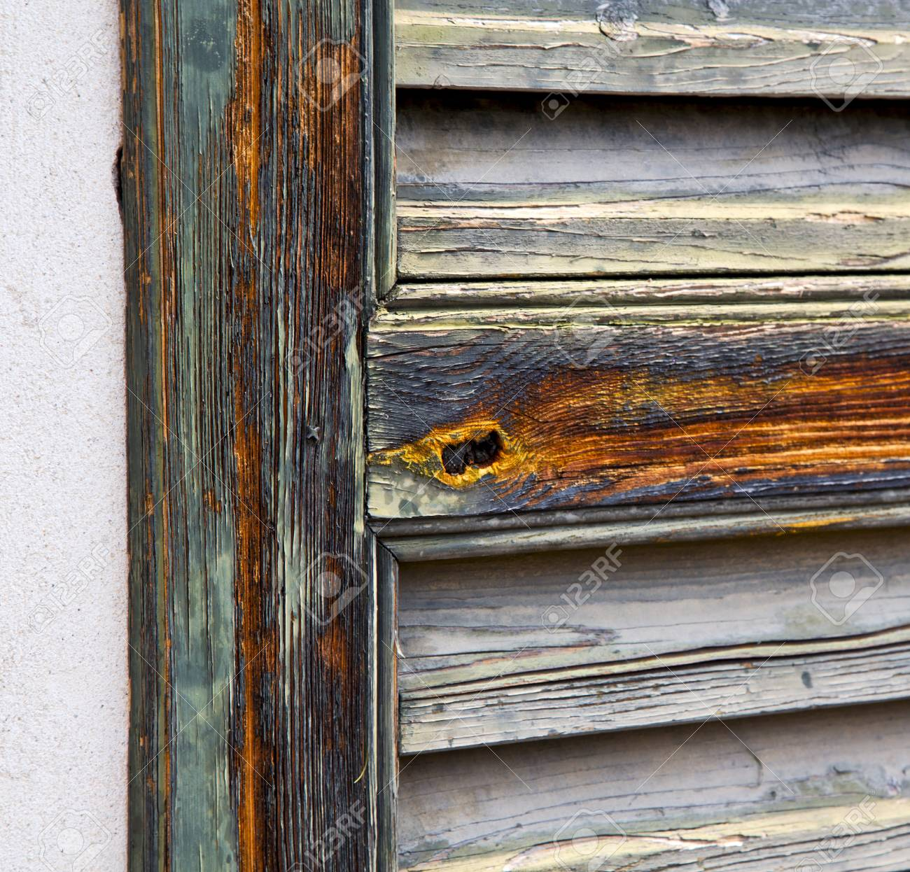 Fenster Varese Palaste Italien Abstrakte Holz Jalousie Im Beton Ziegel