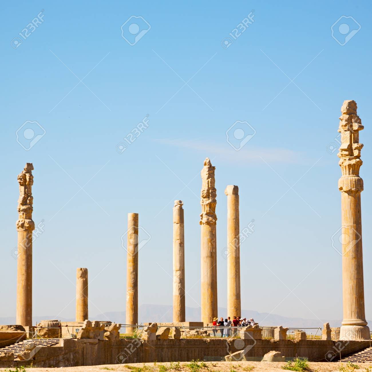 Blur In Iran Persepolis The Old Ruins Historical Destination Stock Photo Picture And Royalty Free Image Image 70009230