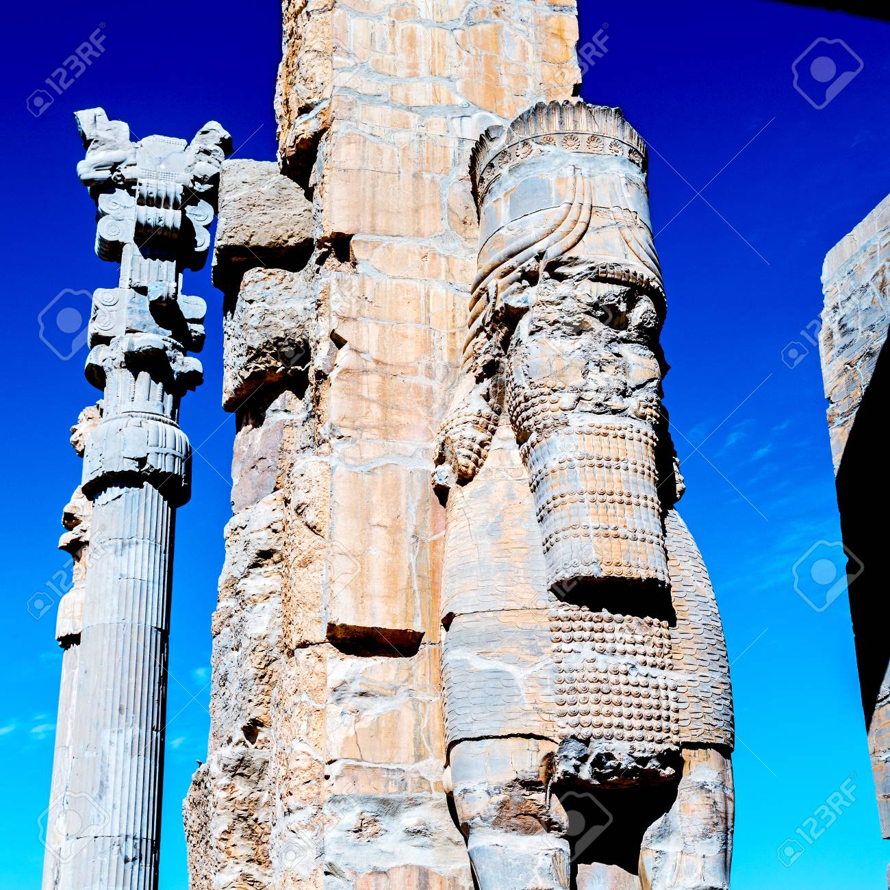 Blur In Iran Persepolis The Old Ruins Historical Destination Stock Photo Picture And Royalty Free Image Image 75242401