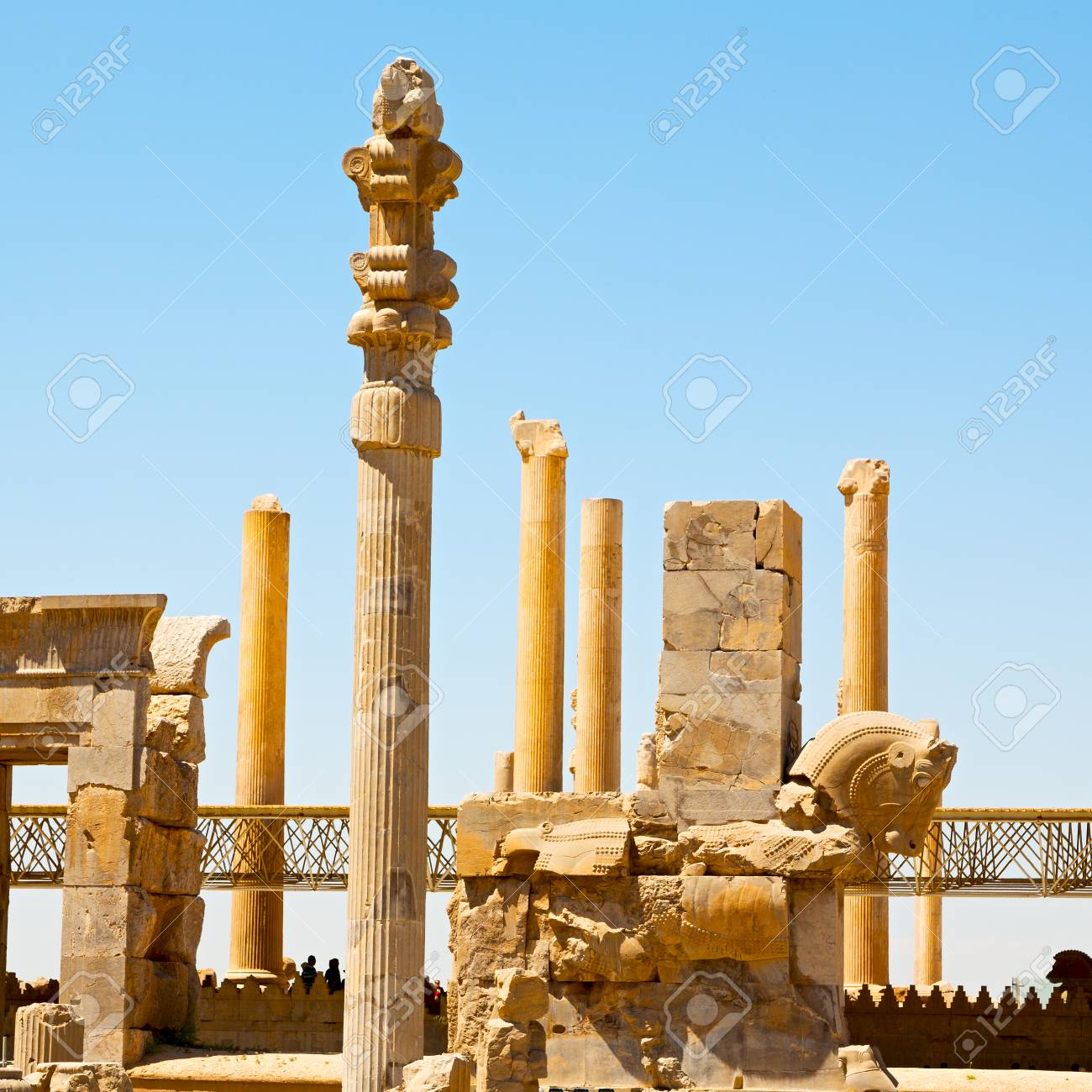 In Iran Persepolis The Old Ruins Historical Destination Monuments Stock Photo Picture And Royalty Free Image Image 74958581