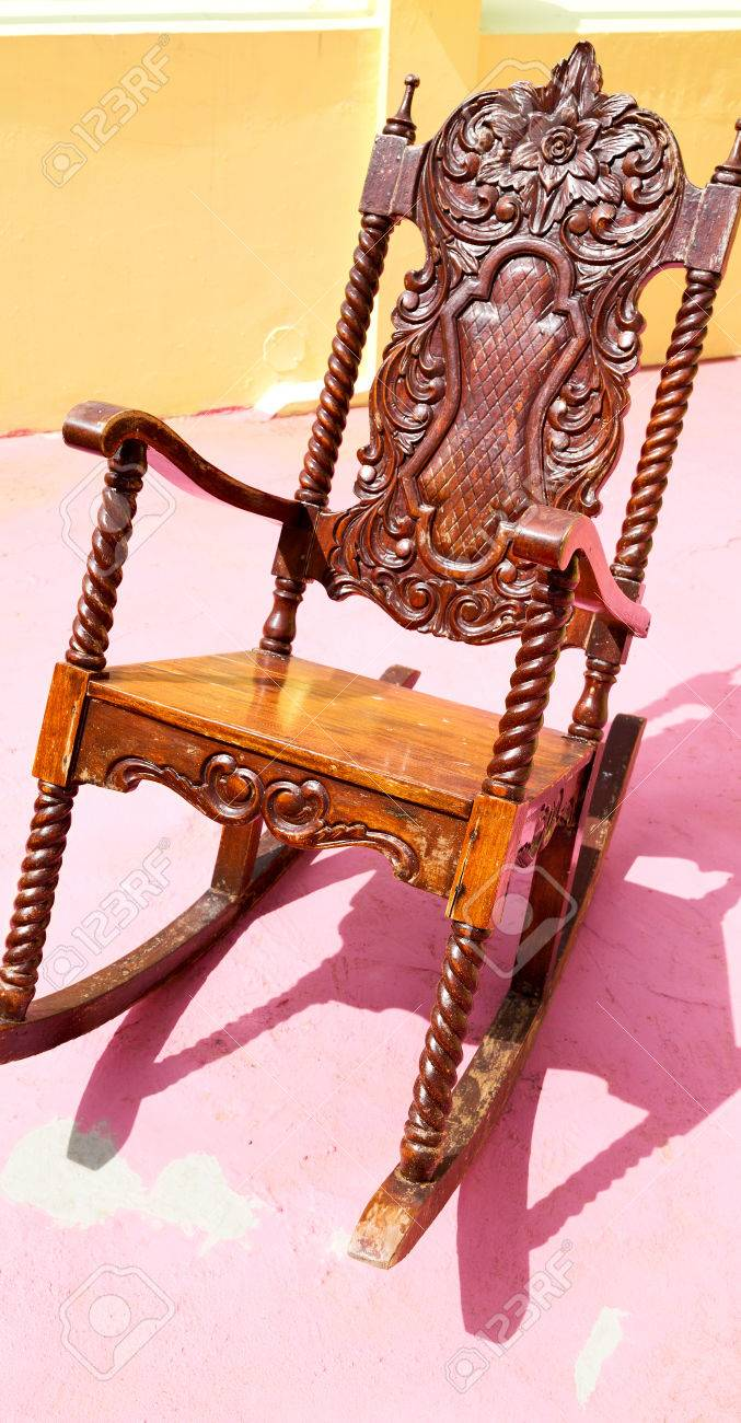 in philippines old dirty terrace whith rocking chair empty Stock Photo - 77937688 & In Philippines Old Dirty Terrace Whith Rocking Chair Empty Stock ...