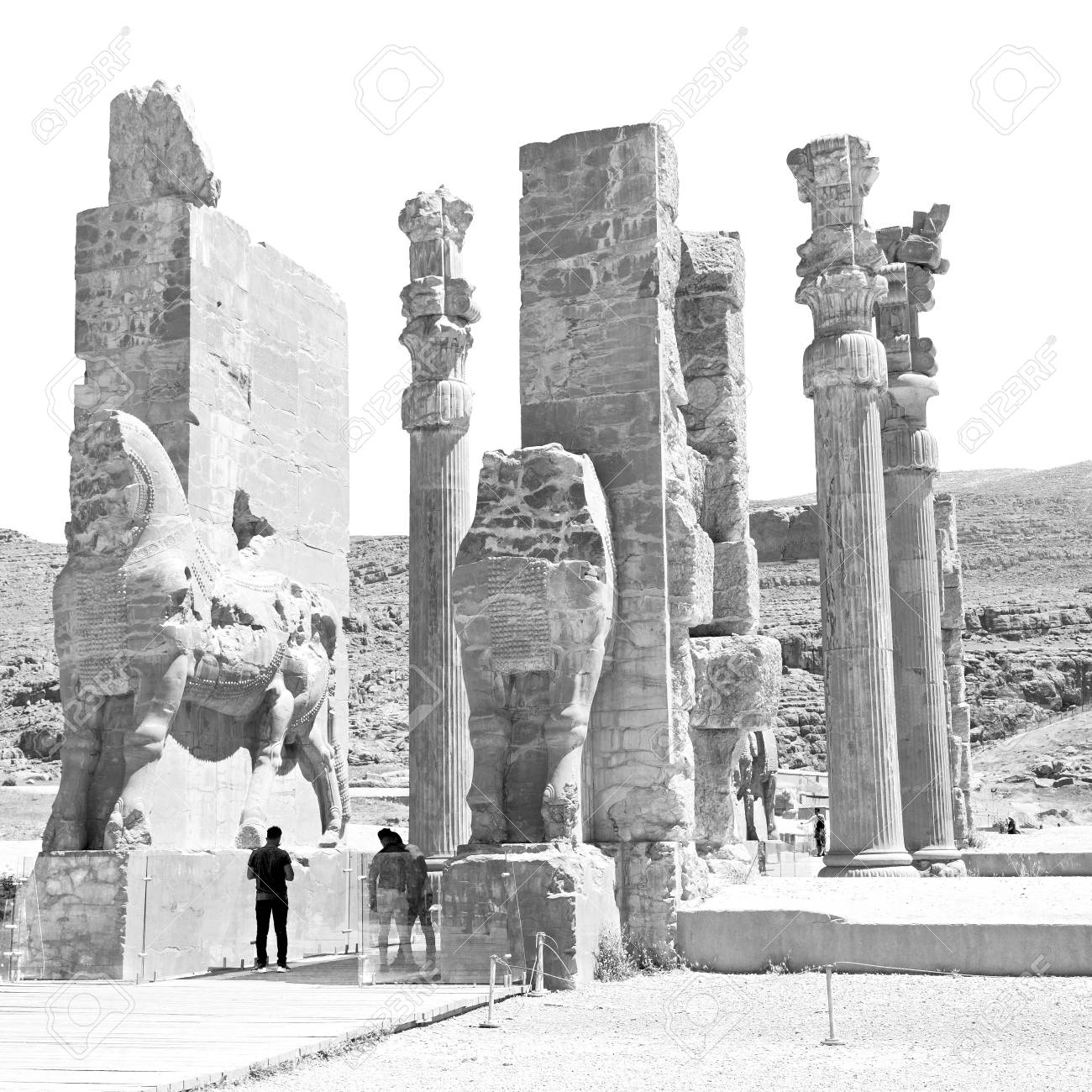 Blur In Iran Persepolis The Old Ruins Historical Destination Stock Photo Picture And Royalty Free Image Image 79698875