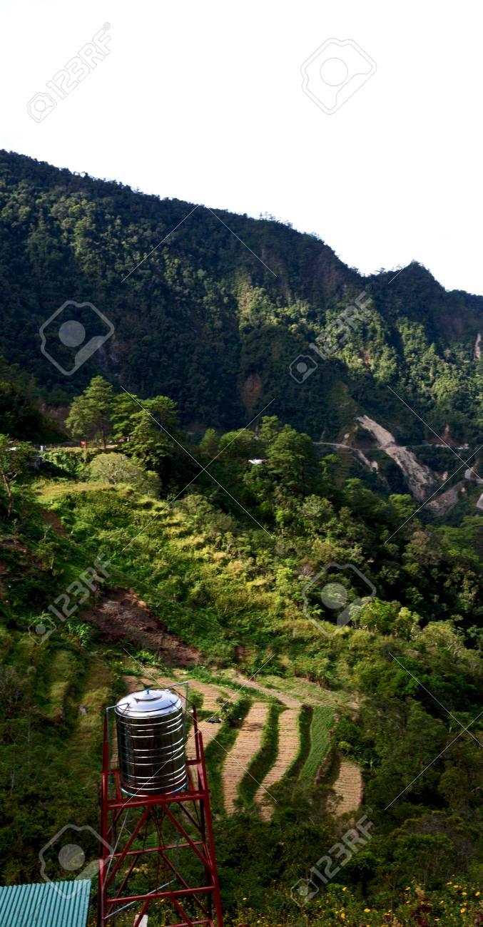 Desenfoque En Campo De La Terraza De Filipinas Para Coultivation De Arroz De Banaue Sitio De La Unesco
