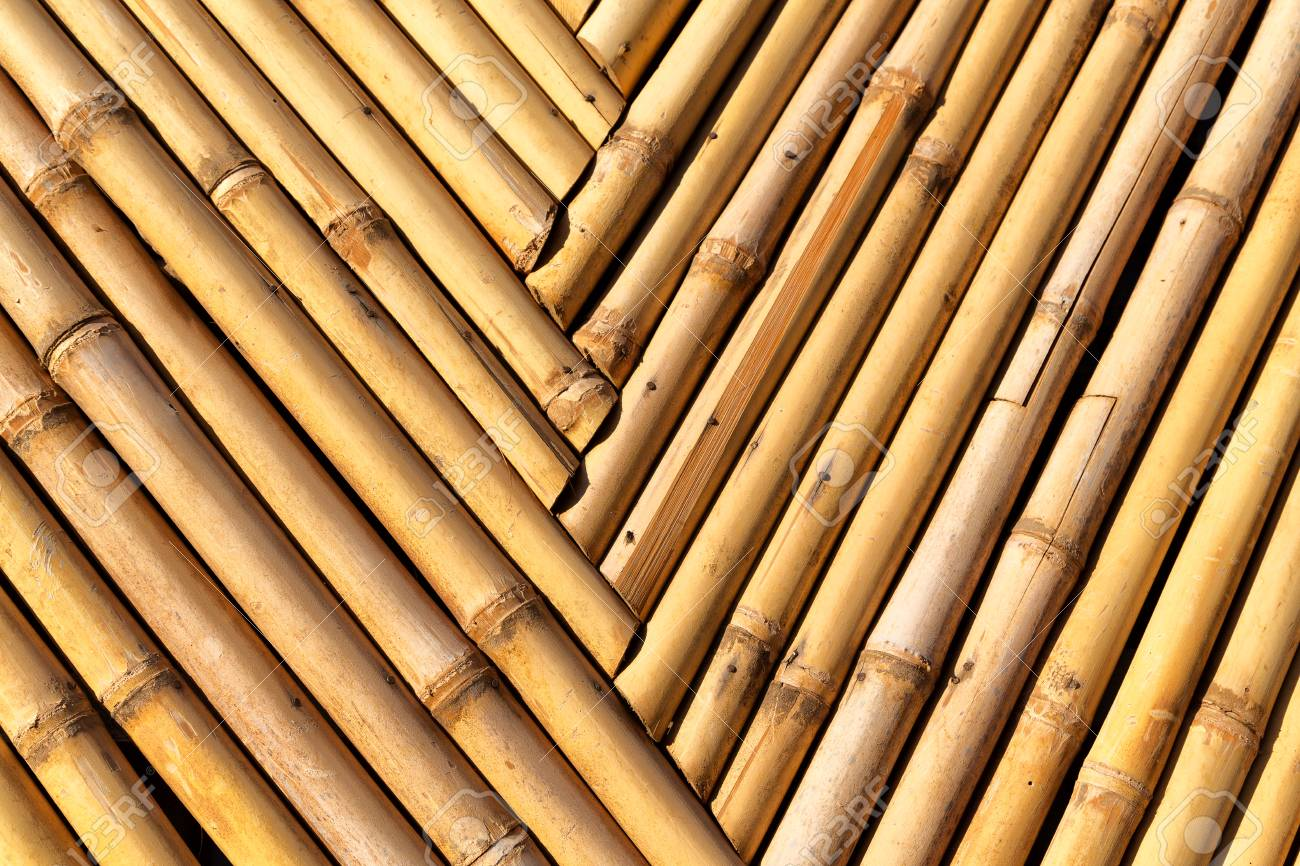 Abstract Texture Background Of The Bamboo Wall And Material Decor ...