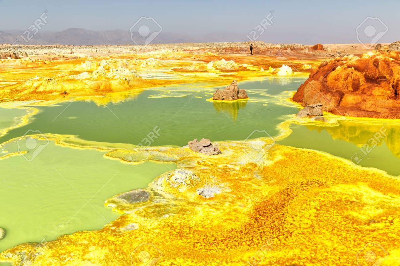 in danakil ethiopia africa the volcanic depression of dallol - 96709651