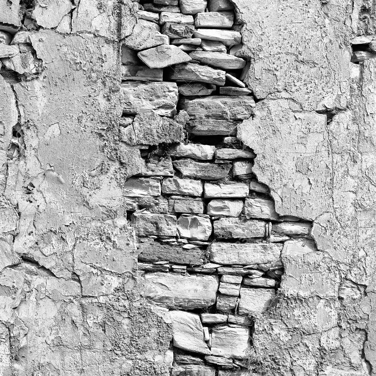 in cyprus the old broken wall and brick concept of denger and